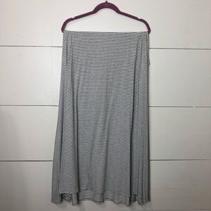 LuLaRoe Gray & White Maxi Skirt
